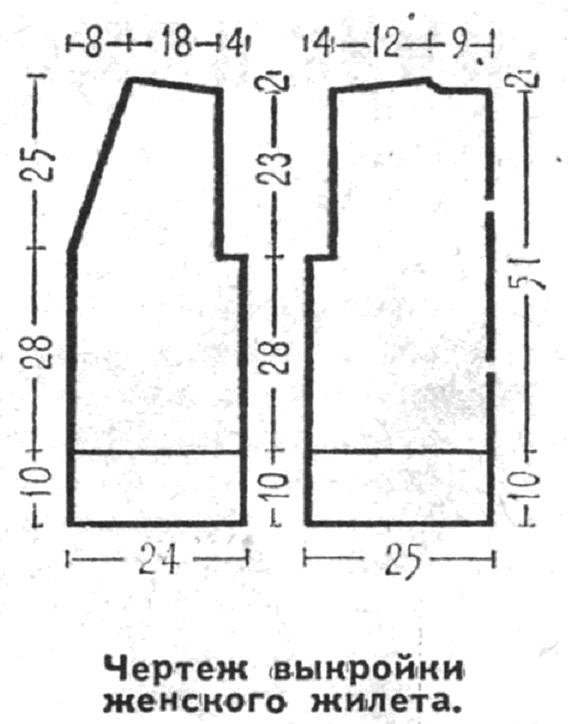 Выкройки жилетов для начинающих простые выкройки своими руками 9
